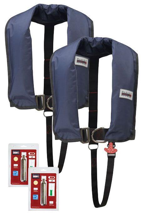 150N Classic ISO Lifejacket LB HR 2er SET inkl. recharge kit