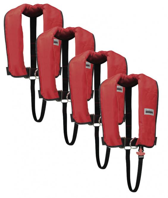 150N Classic ISO Lifejacket LB HR 4er Set