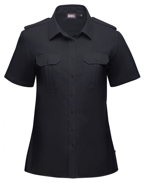 Captain Noniron Shirt Damen Kurzarm