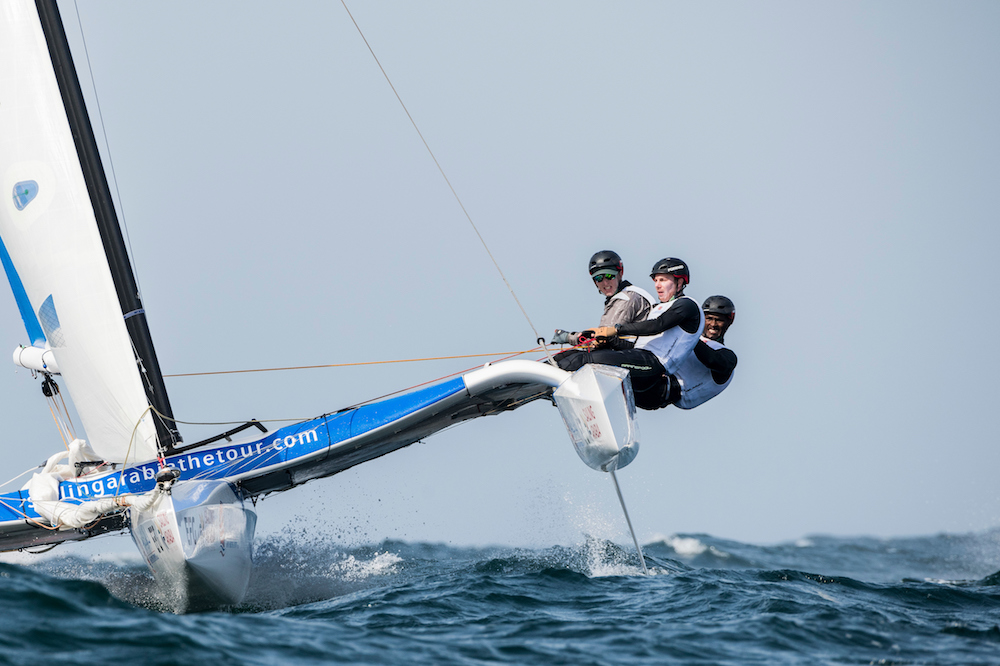 A great breeze sends EFG Sailing Arabia – The Tour off to a flying start in Muscat
